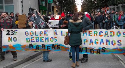Cabecera de la manifestación en Ponferrada / Foto BierzoDiario.com