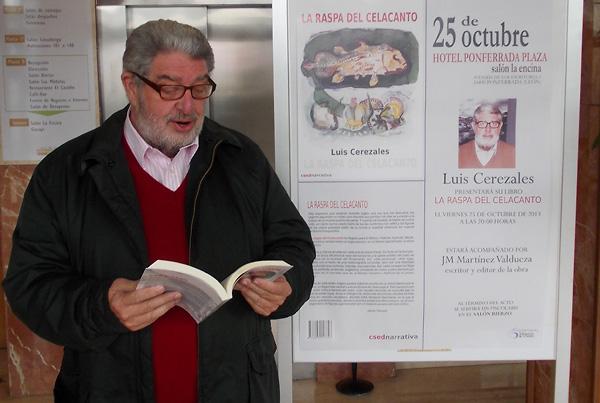 Luis Cerezales presenta su primera novela en Ponferrada / Foto BierzoDiario.com