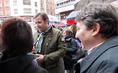 Tino Rodríguez estuvo al lado de Samuel Folgueral en concentración contra la ley del aborto / Foto BierzoDiario.com