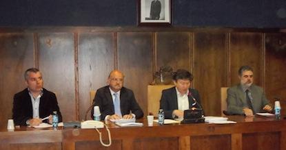 Macías, Cubelos, Folgueral y Álvarez, en una sesión del pleno cuando gobernaban / BierzoDiario