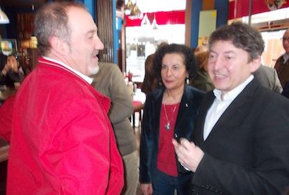 Merayo, con Folgueral el día de la presentación pública de USE / BierzoDiario