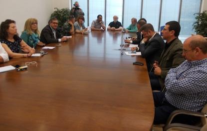 Los miembros de la Mesa de la Energía, en la reunión de este lunes / BierzoDiario