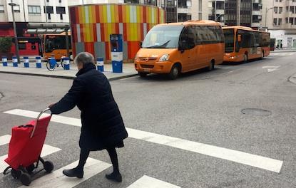Autobuses estacionados en el intercambiador de Ponferrada / BierzoDiario