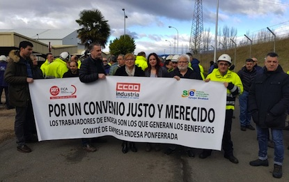 Trabajadores de Endesa protestan por la incertidumbre laboral