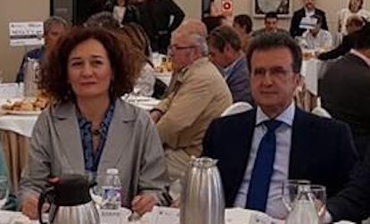 Gloria Merayo y José Luis Ulibarri, en un acto público en Ponferrada