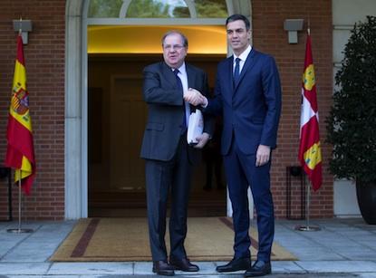 Pedro Sánchez recibió a Herrera este martes en La Moncloa