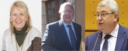 Carmen González Guinda, Eduardo Fernández y Alfonso Rodríguez-Hevia
