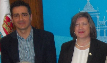 Los concejales Roberto Mendo y María Antonia Gancedo / BierzoDiario