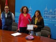 Ponferrada reconoce la trayectoria deportiva de Alba Pérez